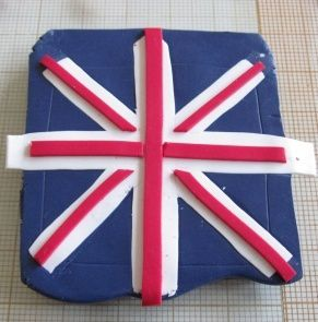 tutoriel comment faire le drapeau anglais en fimo le blog de miss kawaii. Black Bedroom Furniture Sets. Home Design Ideas