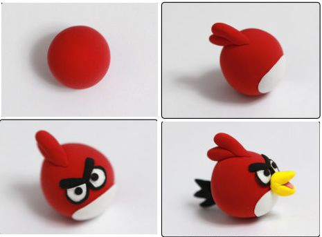tutoriel comment faire les personnages de angry bird en fimo le blog de miss kawaii. Black Bedroom Furniture Sets. Home Design Ideas
