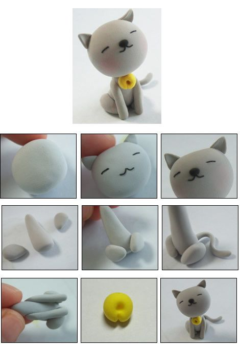 tutoriel comment faire un chat en fimo le de miss kawaii