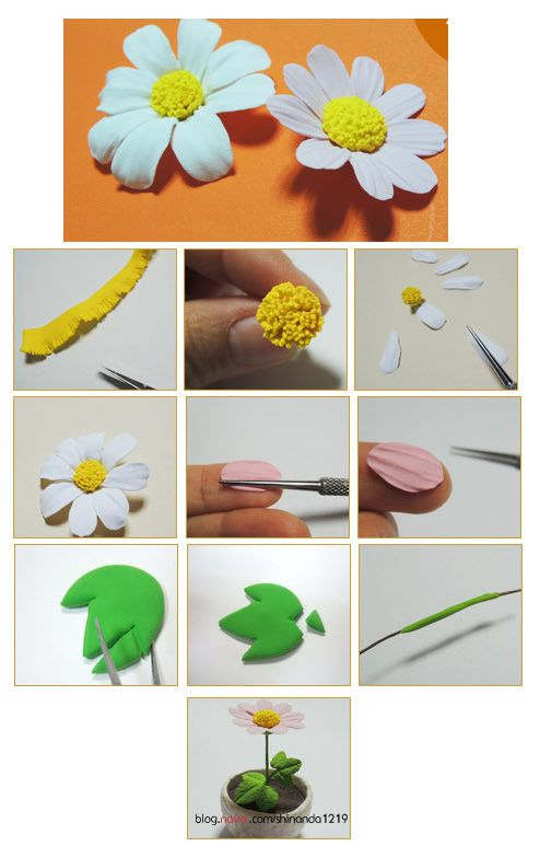 tutoriel comment faire une marguerite en fimo le de miss kawaii