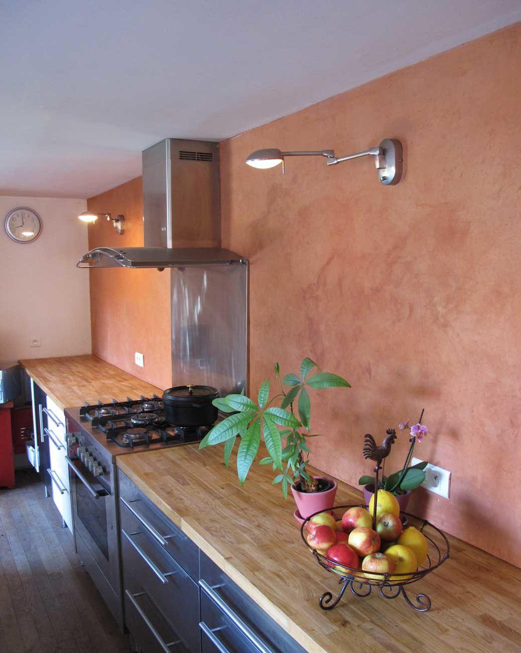 Tadelakt cuisine latest plan pour poser vasque salle de for Tadelakt cuisine