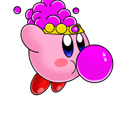 Bubble_Gum_Kirby_by_TokeiTime