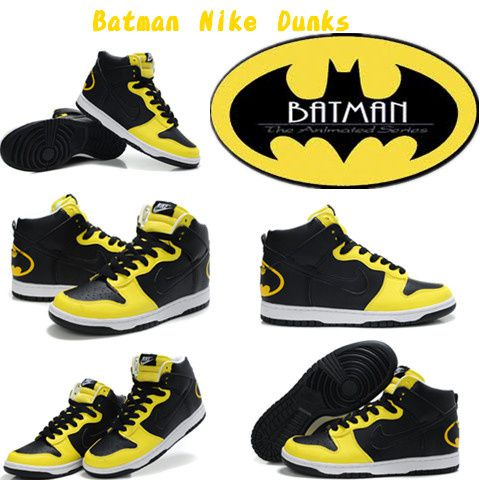 Designer Batman Nike Dunk High Tops Custom Sneaker theone