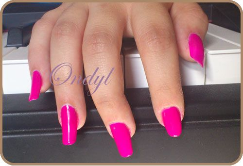 Ongles rose fluo - Ongle rose fluo ...