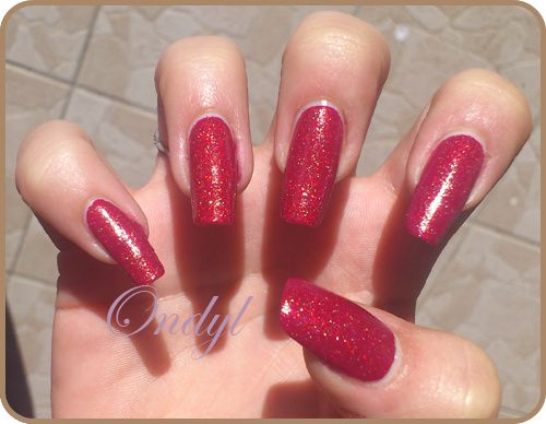 Célèbre Swatch vernis Yes Love Rouge Pailleté - Ondyl & ses Nail Arts  NS13