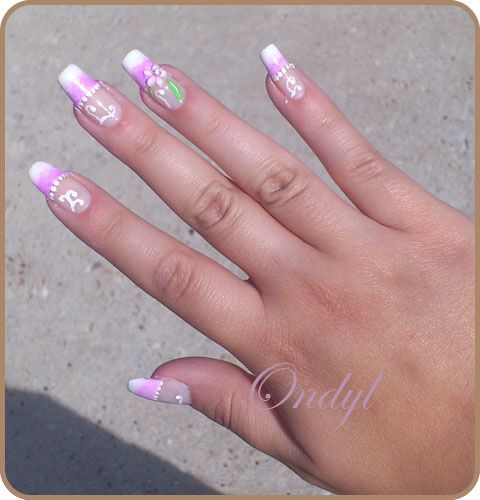 pink-french-manicure-with-3d-flowers 0381