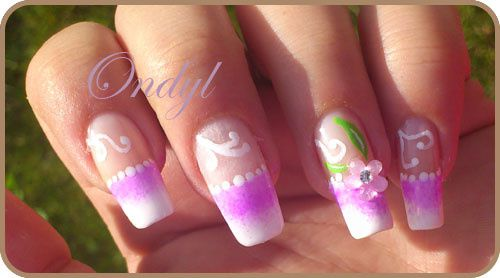 pink-french-manicure-with-3d-flowers 0390