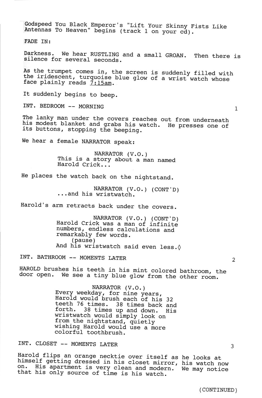 How to write a screenplay for animation