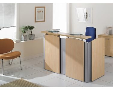 am nagez l 39 espace d 39 accueil du bureau avec desk design deco brico. Black Bedroom Furniture Sets. Home Design Ideas