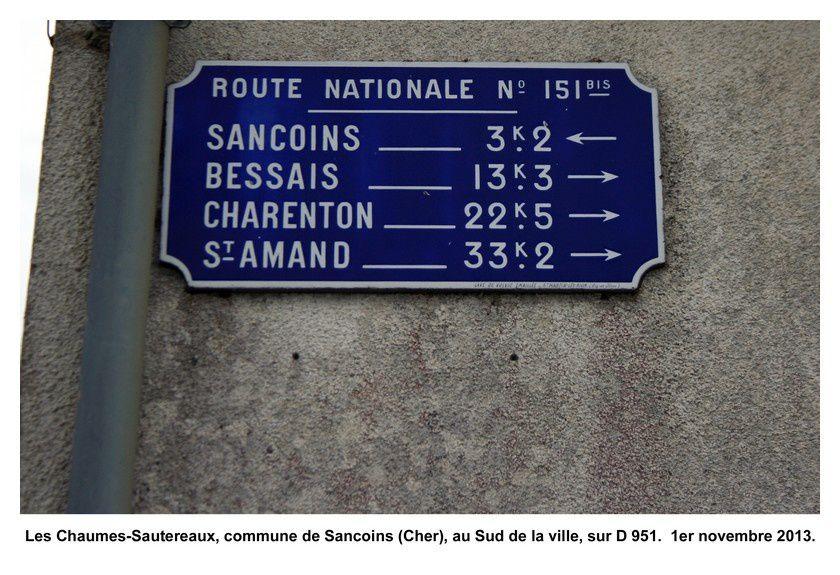 18 - Sancoins (Les Chaumes-Sautereaux, D 951)