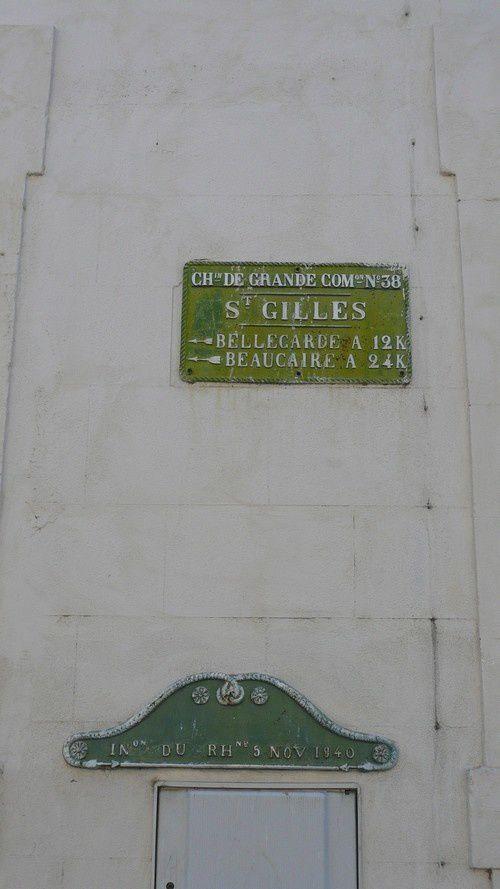 St Gilles VUE PLAQUE GAUCHE