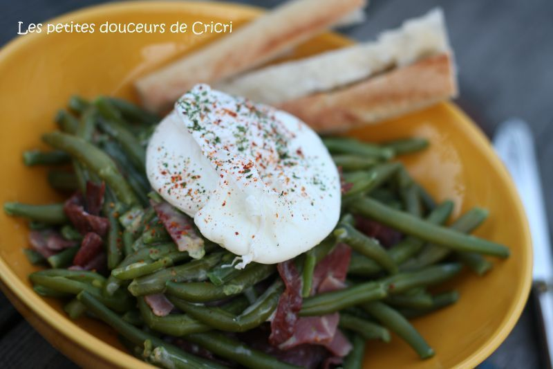 haricots carbo oeuf poché 2