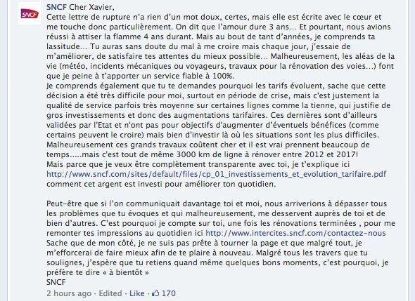 SNCF réponse