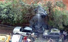 La voiture blindée du député Jibran Toueiri, a été souflée par les 100 kg d'explosifs.