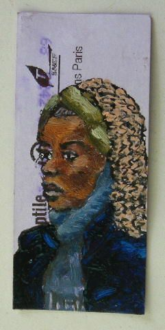 © Luc grateau 2006 – Serialpaintings.net  - serial painter figures peintes métro