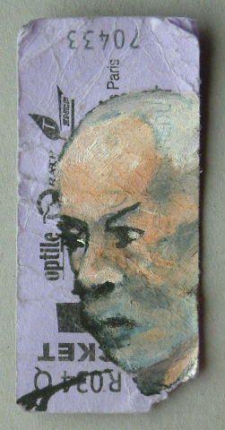 Luc Grateau serialpaintings figures peintes métro 2006