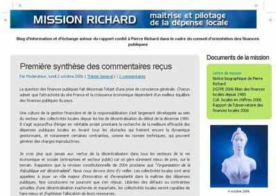 Voir le blog de la mission Richard