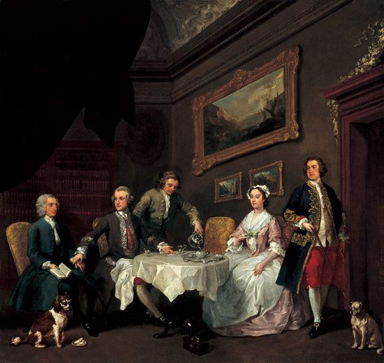 HOGARTH La Famille Strode-c.1738. Tate Gy