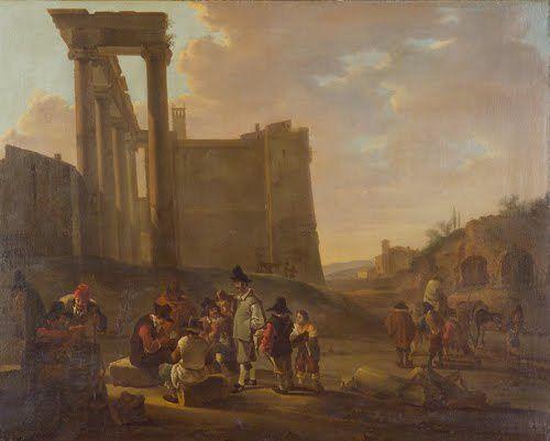 1637 BOTH Jan - Roman ruins and card players
