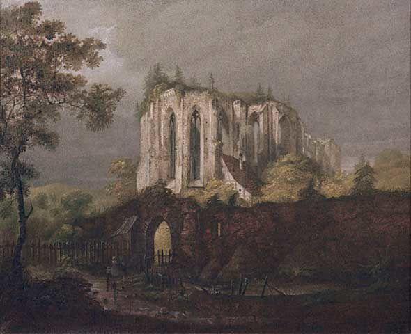 1823 K. BLECHEN Ruines d'Oybin Monastery 1823