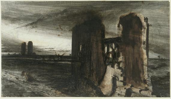 1870 V. HUGO Ruines ds un paysage 1870