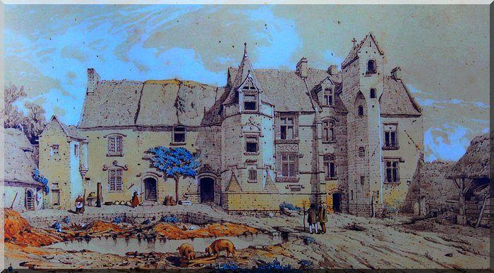 Croquis du manoir au 19ème siècle