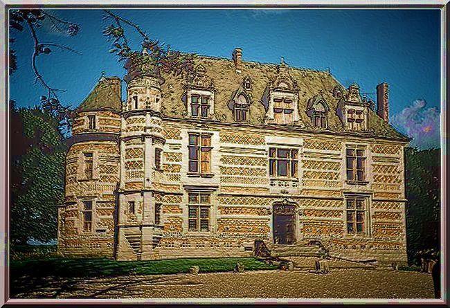 La façade Sud Renaissance et son fabuleux décor de brique, pierre et silex