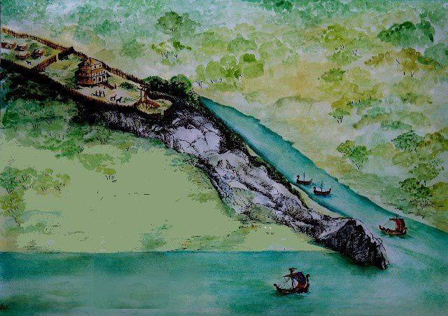 Plan des fortifications primitive de La Roche Bernard