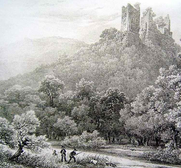 Voici une lithographie de 1828 par J.G. Schweighaeuser représentant les 2 châteaux de Wasigenstein.