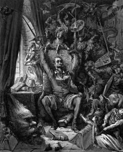 Les délires de Don Quichotte - Illustration de Gustave Doré.