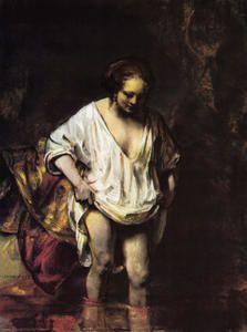 """Rembrandt : """"Femme au bain""""  - 1654 - National Gallery . Londres. / En quête d'une lumière intérieure..."""