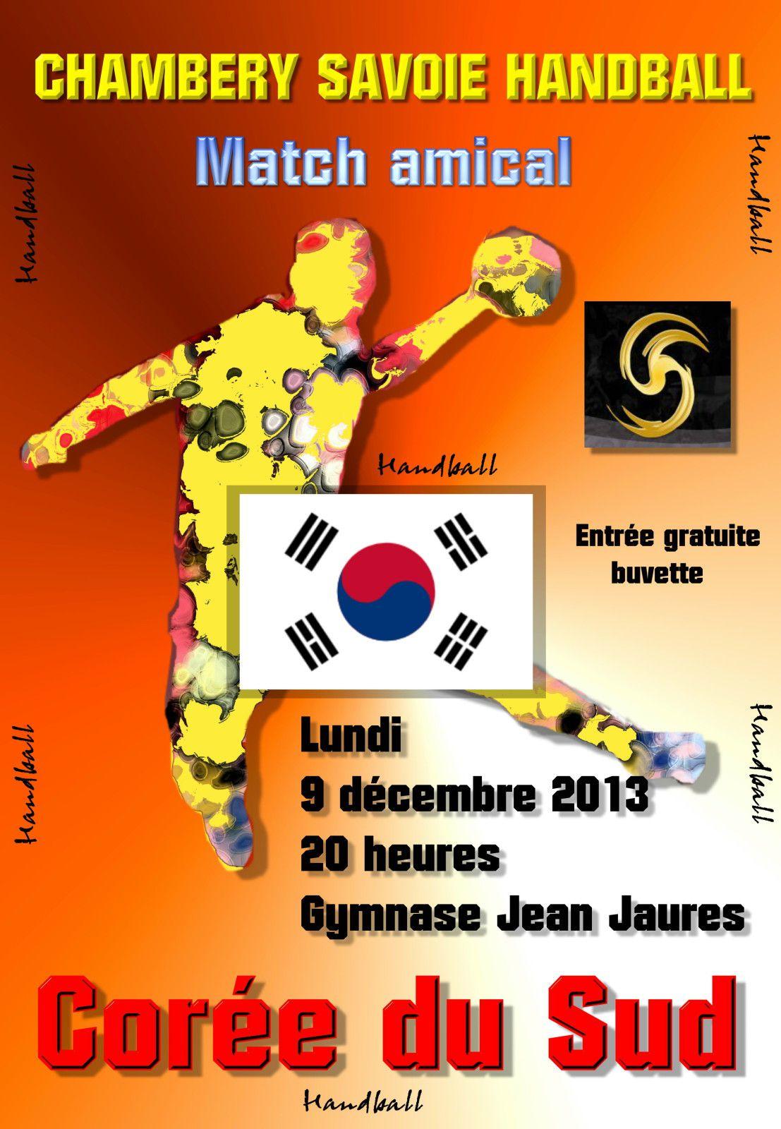 Affiche match amical CHAMBERY LA CORRE du sud 09 12 2013