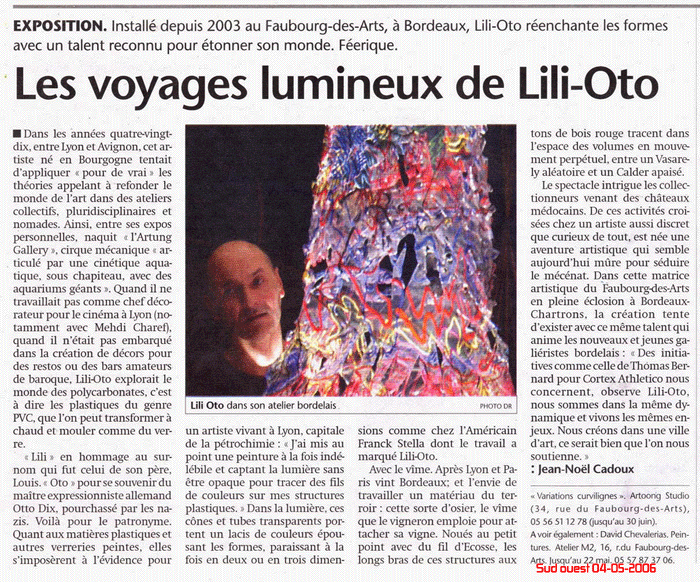 la presse sur l'art contemporain, art, actualité, revue art, magazine, journal presse, article exposition, France, création, peinture, art contemporain, artiste, sculpture, expo, journal expos