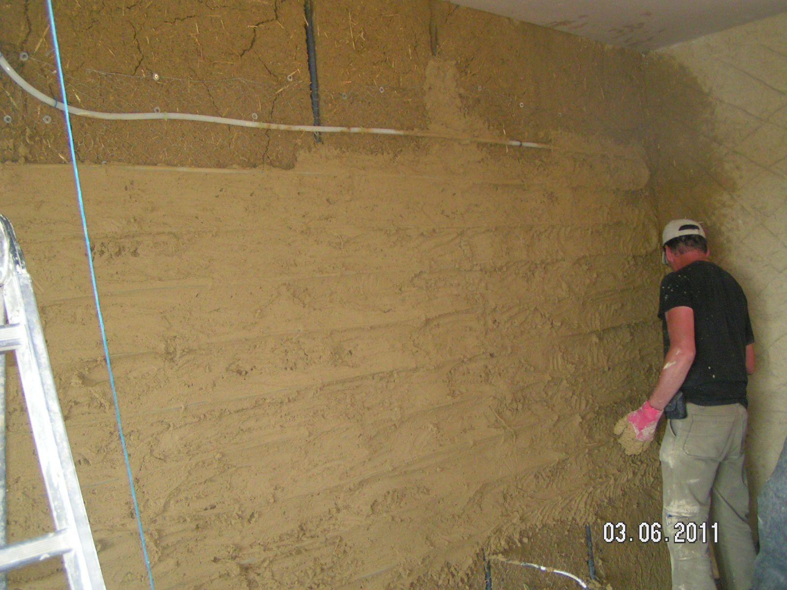 Toile À Enduire Plafond création de murs chauffants - des enduits en terre et en