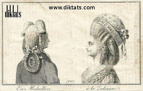 1coiffure en medaillon coiffure a la zodiaque gravure 1777