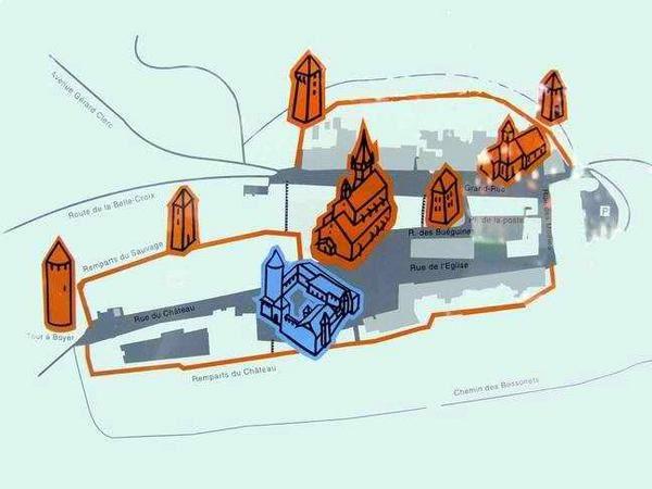 Diaporama cité fortifiée et château de ROMONT