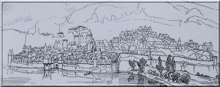 La cité était protégée de toute part : Falaise, châteaux, remparts, tours !