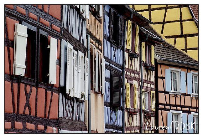Alsace---Colmar---Façade colorée