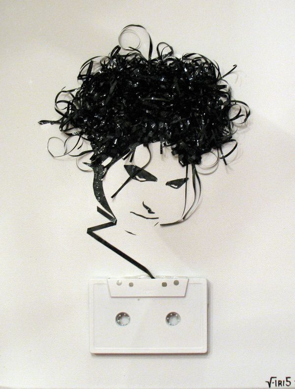 Robert-Smith---Cassette-tape-on-canvas--2009.jpeg