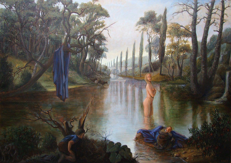 Le portrait du peintre en jeune voyeur Huile sur toile 114