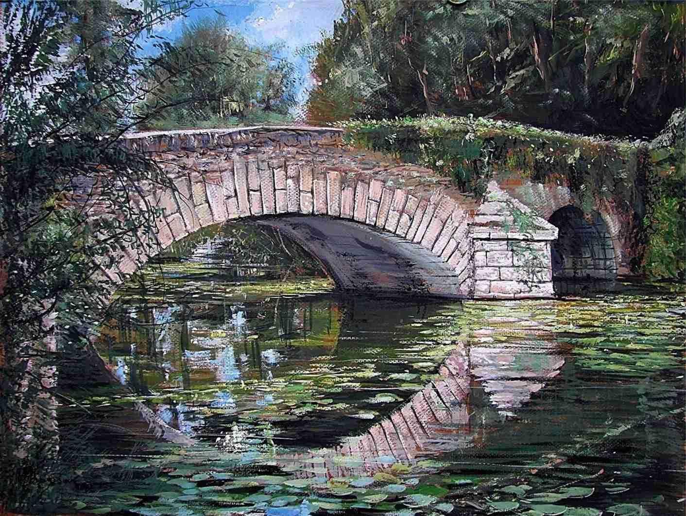 Brunoy Pont de Sullens gouache 46X59 2010 (13)