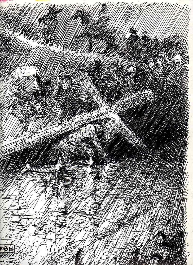 Via Crucis 1° chute encre de Chine 23X33 août 2011001