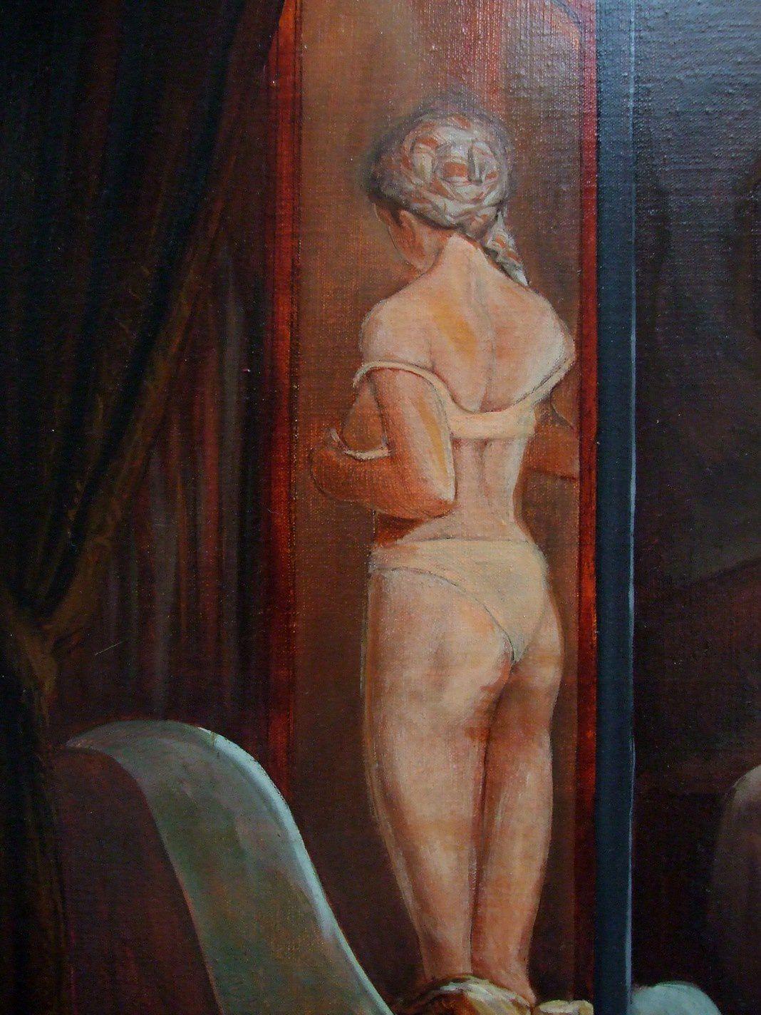 L'intimité de la femme Détail Huile sur toile 10-copie-17
