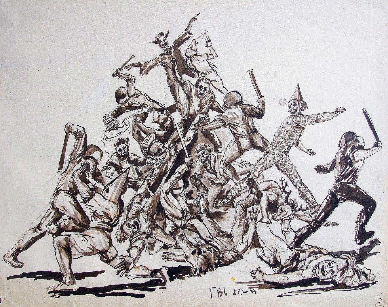Les manifestations encre sépia, (9)