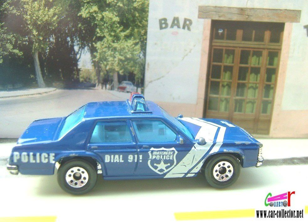 FORD POLICE MATCHBOX BLUE DIAL 911 UNIT 22