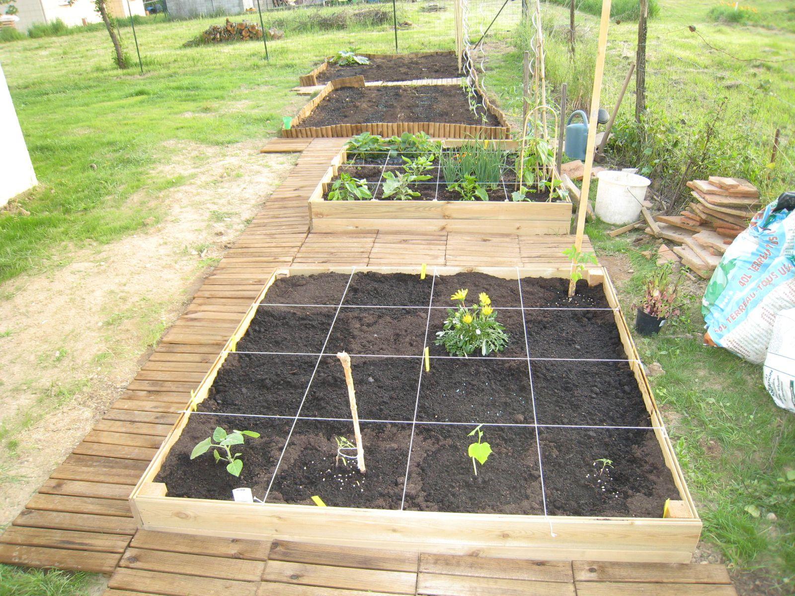 Dalles De Bois Pour Jardin aménagement du jardin potager - le blog de nathalie