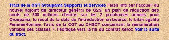 Tract CGT G2S flash info - octobre 2011