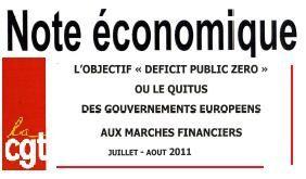 Note économique CGT Juillet Août 2011