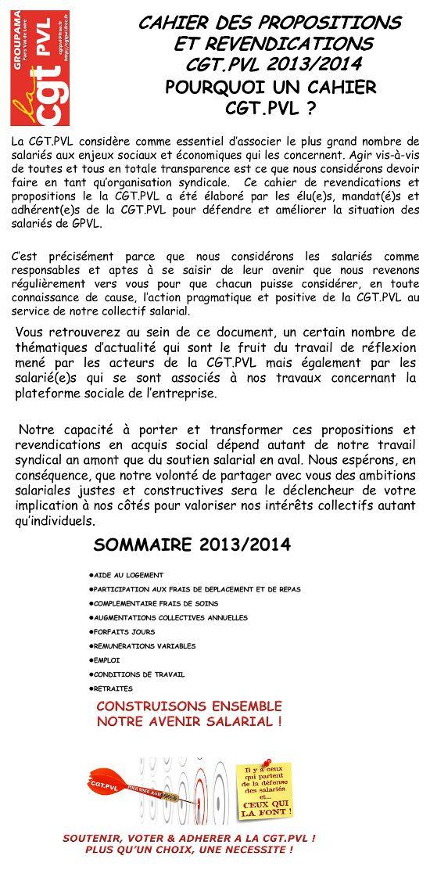 Visu CGT GPVL Cahier revendications 2013-2014