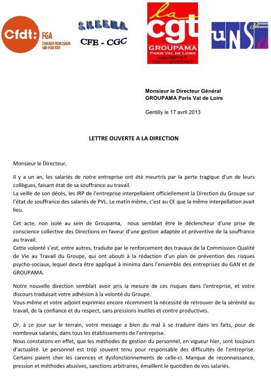 Visu lettre intersyndicale direction 17 04 2013A